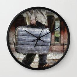 Traveling Man Wall Clock
