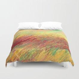 Fire Grass Duvet Cover