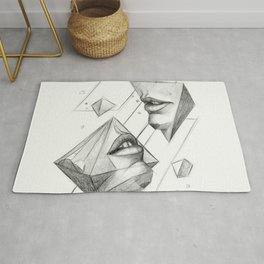 Surreal Geometry Shapes Rug