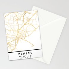 VENICE ITALY CITY STREET MAP ART Stationery Cards