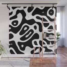 Black and White Abstract Wall Mural