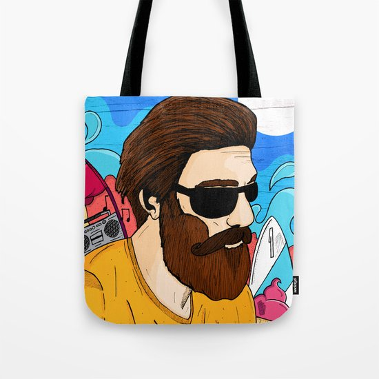 Summer Beard Tote Bag