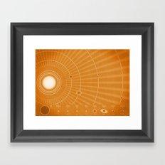 Solar System Hot Framed Art Print