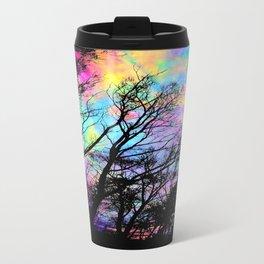 Black Trees Colorful space. Travel Mug