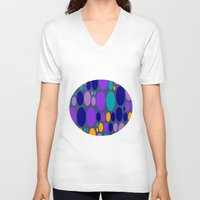 dots V-neck T-shirts featuring Dots by Aloke Design