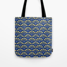Art Deco Fan in blue and gold Tote Bag
