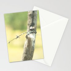 Green fence Stationery Cards