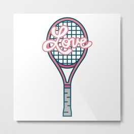 Tennis Ball Racket Game Sport Love Metal Print