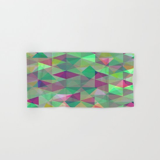 Pastel Triangles Pattern - Abstract, geometric, pastel coloured artwork Hand & Bath Towel