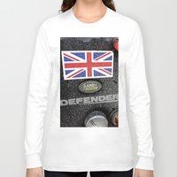 union jack Long Sleeve T-shirts featuring Land Rover Union Jack by Premium