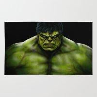 hulk Area & Throw Rugs featuring Hulk by Fila Venom Art
