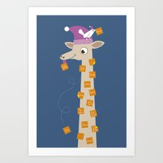 Note Giraffe Art Print