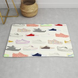 Colorful Sneakers Rug