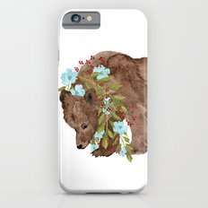 Bear with flower boa iPhone 6s Slim Case