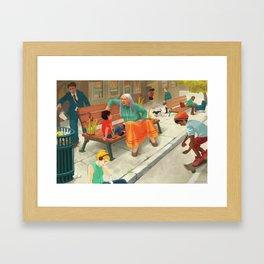 The block Framed Art Print
