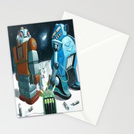 Insert battery please Stationery Cards