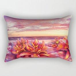 Radioactive flowers Rectangular Pillow