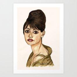 Penelope Cruz Art Print