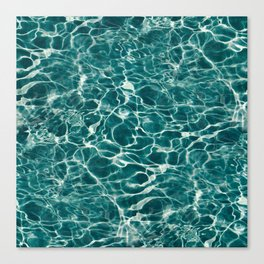 Aqua Underwater Wavy Rippling Water Canvas Print