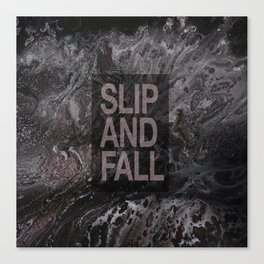 Slip and Fall Canvas Print