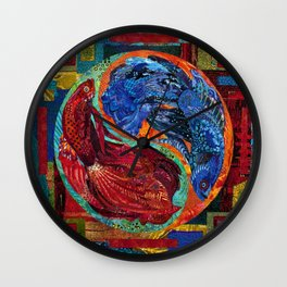 Head Over Tails Wall Clock
