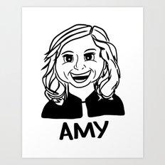 Amy Poehler Art Print