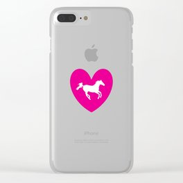 Love Horse Clear iPhone Case