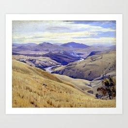 Elioth Gruner Weetangera, Canberra Art Print