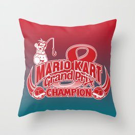 Mario Kart 8 Champion Throw Pillow