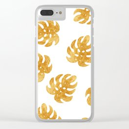 gold eaves Clear iPhone Case