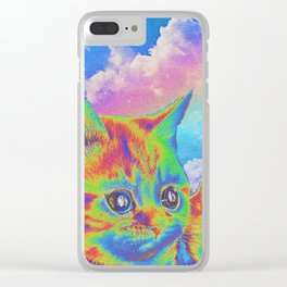 Rainbow Kitten Clear iPhone Case