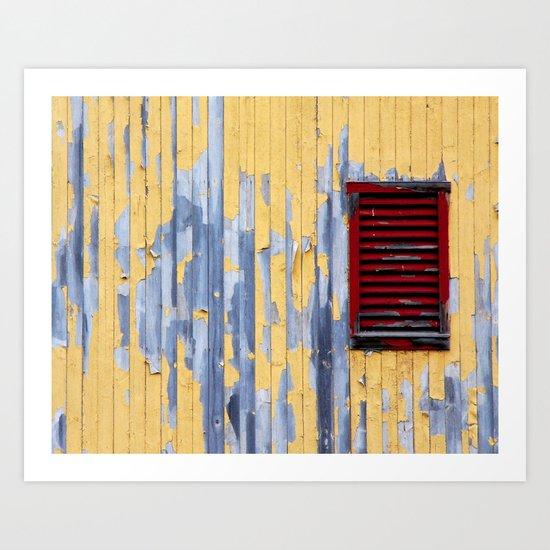 The Red Window Art Print
