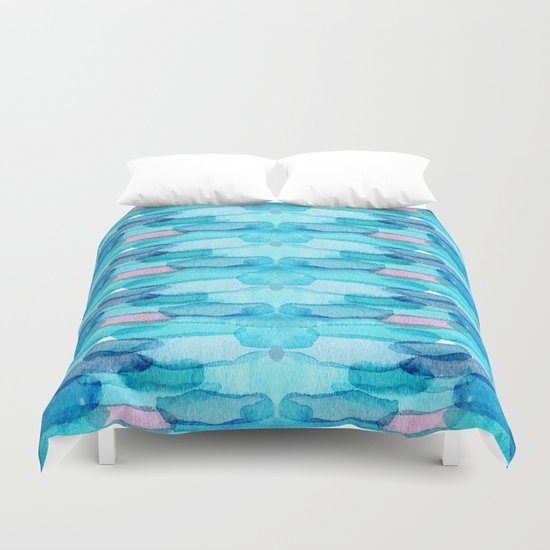 Watercolor folk  Duvet Cover