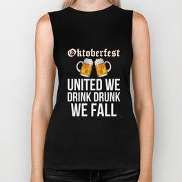 Oktoberfest United We Drink Drunk We Fall Biker Tank