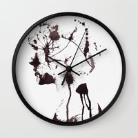chaos Wall Clocks featuring Chaos by Andreas Lie