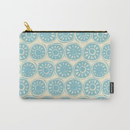 flower block blue ivory Carry-All Pouch