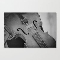violin Canvas Prints featuring Violin by KimberosePhotography