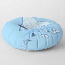 Bermuda triangle Floor Pillow