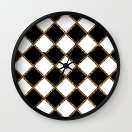 Geometric ornament gold seamless pattern Wall Clock