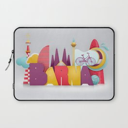 Barcelona ilustrada Laptop Sleeve