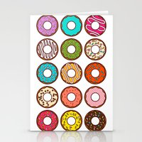 donuts Stationery Cards featuring Donuts by TinyBee