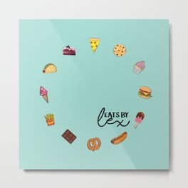 FOOD CLOCK Metal Print
