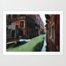 Sunny canal Art Print