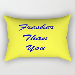 fresher THAN you Yellow & Blue Rectangular Pillow