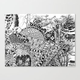 Black and White Design 7 Canvas Print