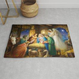 Nativity, holy night Rug