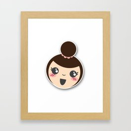 Happy Kim! Framed Art Print