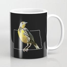 North Dakota – Western Meadowlark (Black) Coffee Mug