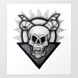 Demon Skull Art Print