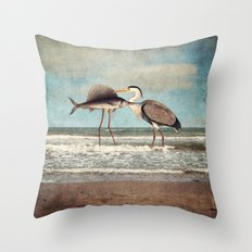 The Fish That Sold Its Soul for Love Throw Pillow